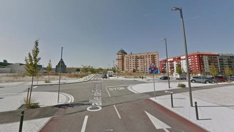Cruce de las calles Extremadura y Valle de Aranguren