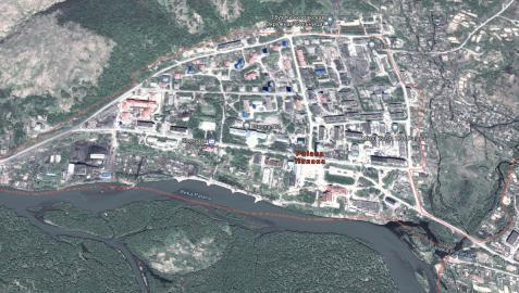 Vista aérea de Palana, donde tenía que haber aterrizado el avión.