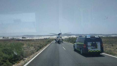 Francisco Javier Perales fue evacuado en helicóptero