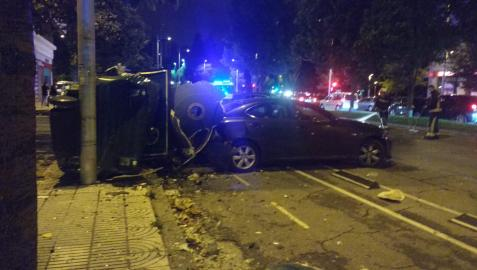 Imagen del accidente en la avenida Bayona.
