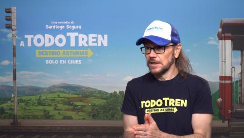Santiago Segura, en la promoción de su nueva película 'A todo tren: Destino Asturias'