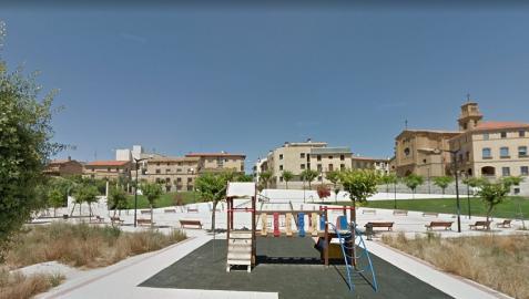 Plaza Virgen de la Asunción, en Murchante.