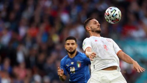 Koke en el duelo ante Italia