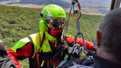 Rescate de los bomberos de Navarra