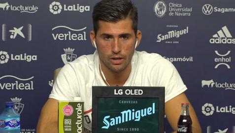Jesús Areso, en su presentación como jugador de Osasuna