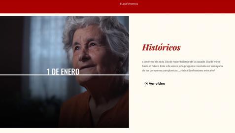 Captura de la pagina web losviviremos.es donde se pueden visualizar los videos