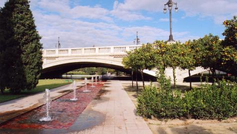 Jardines de Turia, donde se ha producido la agresión.