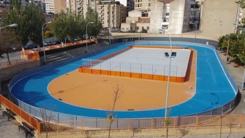 Vista general del patinódromo tras su reforma