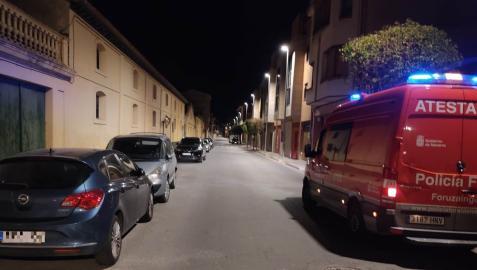 Imagen de una ambulancia de la Policía Foral, en Corella.