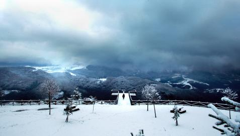 Mirador de Azpirotz en pleno invierno.