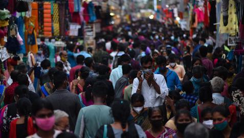 Calle de Chennai, en la India