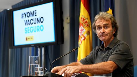 Fernando Simón durante su comparecencia ante los medios este lunes, 12 de julio