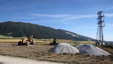 Vista del inicio de las obras en la cuarta fase de la CTP