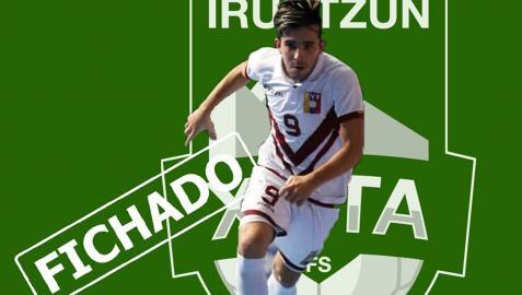 Imagen del anuncio del fichaje de Carlos Vento por Osasuna Magna publicado en las redes del club