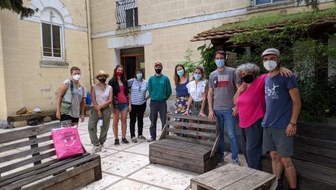 Visita del director y personal de Juventud a la ecoaldea Asterra Bizimodu.