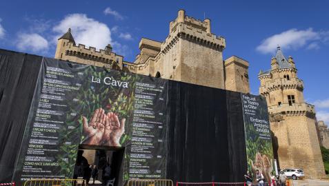 Imagen de la entrada al espacio 'La Cava', escenario donde arranca el viernes el festival.