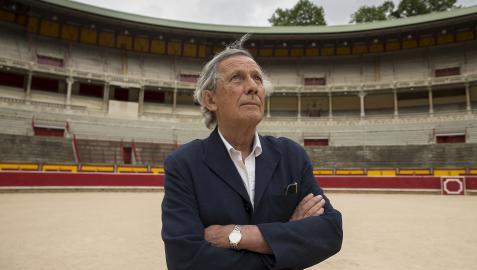 José María Marco, este lunes 12 de julio en el ruedo de la plaza de Toros de Pamplona