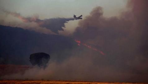 Imagen del incendio que ha afectado al monte Yerga, en Autol.