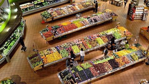 Imagen de archivo de un supermercado.