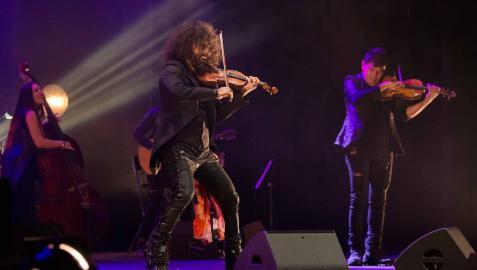 El violinista Ara Malikian en una de sus actuaciones en Tudela
