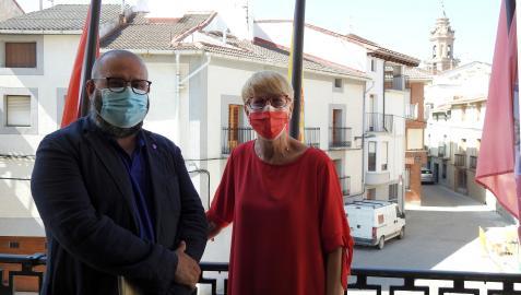 Javier Armentia y Consuelo Ochoa presentaron las jornadas de Astroturismo en el Ayuntamiento