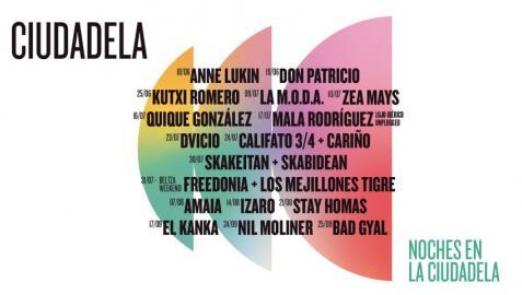 Cartel de los conciertos de 'Las Noches en la Ciudadela'.