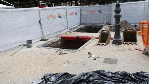 Catas arqueológicas en el Paseo de Sarasate