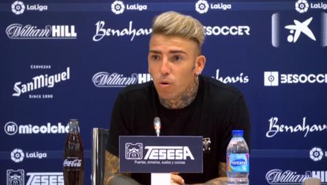 Brandon, en la rueda de prensa en Málaga