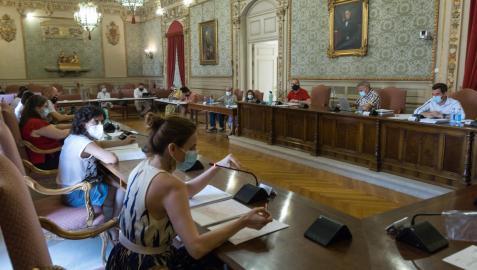Imagen de los ediles del Ayuntamiento de Tudela, durante la sesión de pleno celebrada este jueves