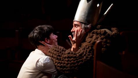 Una escena de Nise, la tragedia de Inés de Castro entre la noble gallega y el rey de Portugal