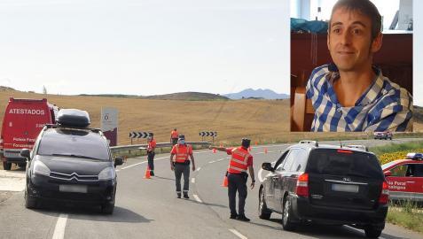 Lugar del accidente y fotografía, arriba a la derecha, de David Arzoz Labat.