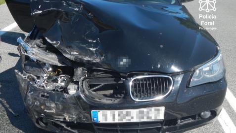 Uno de los accidentes ocurridos durante el fin de semana