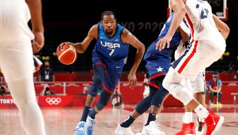 Kevin Durant en la derrota de Estados Unidos ante Francia