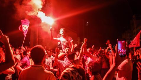 Protestas en las calles de Túnez