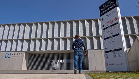 Edificio del centro tecnológico que alberga también el vivero de empresas de Estella