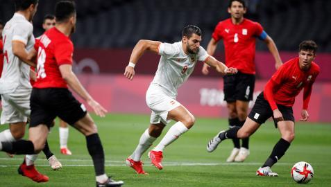 Rafa Mir, en el encuentro disputado por España ante Egipto