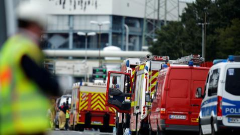 Explosión en Chempark en Leverkusen