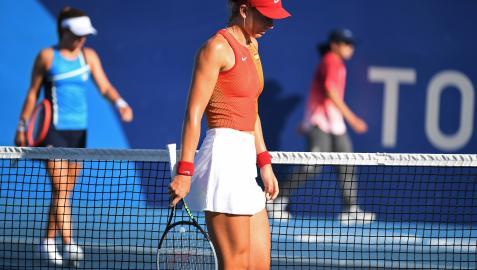 Paula Badosa, en su partido anterior ante la argentina Nadia Podoroska