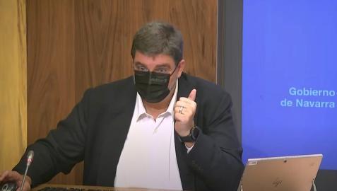 Alfredo Martínez, durante su comparecencia de este miércoles