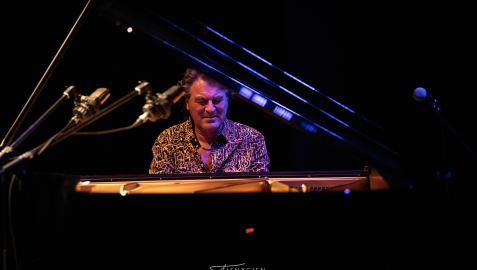 David Dorantes, durante un concierto. El pianista, que ya había actuado en Pamplona dentro del Festival Flamenco On Fire, presentará Identidad en la Sala de Cámara de Baluarte
