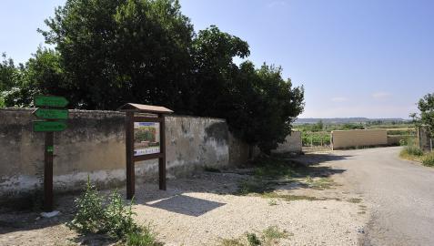Los senderos discurren por prácticamente todos los pueblos de la comarca. En la imagen, Carcastillo