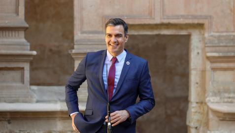 El presidente del Gobierno, Pedro Sánchez en su intervención previa a la XXIV Conferencia de Presidentes