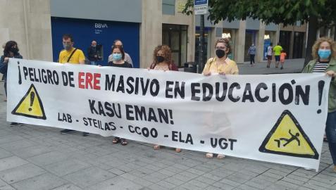 Protesta de los sindicatos, este viernes