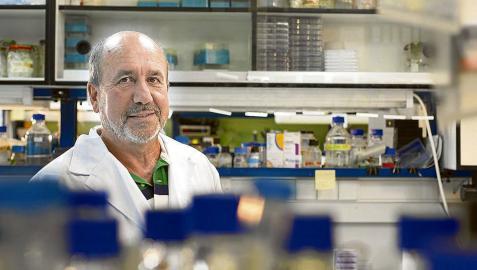 El profesor Mariano Esteban posa en su laboratorio del CNB-CSIC