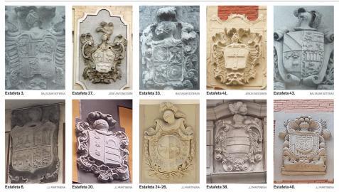 Los escudos de la calle Estafeta