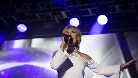 Ana Torroja, en un concierto en el Jardín Botánico en Madrid dentro de su gira 'Mil Razones'