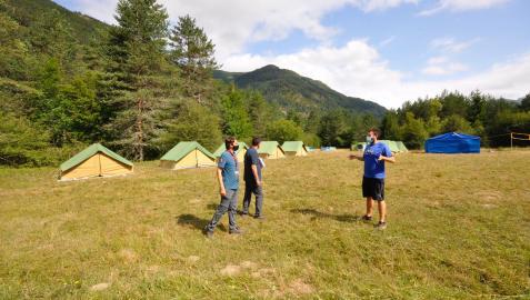 Imagen de una de las acampadas realizadas en julio