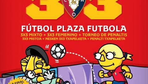 Catrel de la edición de 2021 del 3x3 Fútbol Plaza de Osasuna que recorrerá en agosto 13 localidades navarras