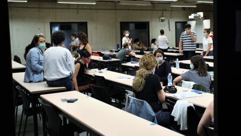 Asistentes a la OPE docente en la UPNA
