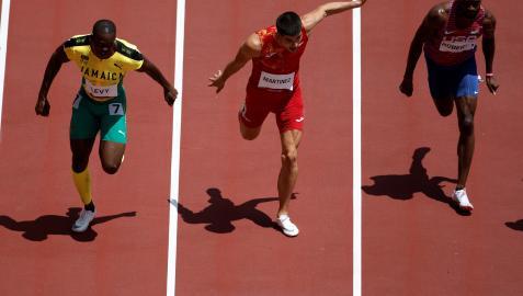 Asier Martínez competirá este jueves en la final de 110 metros vallas